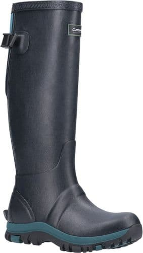 Cotswold Realm Plain Rubber Wellingtons Navy / Teal